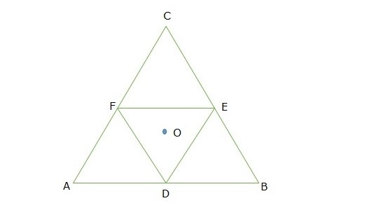 Moment of inertia of an equilateral triangular lamina ABC