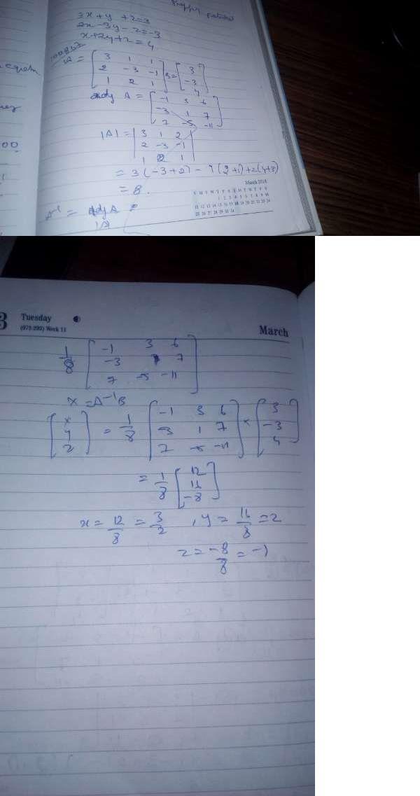 Solve The Equation 3xy2z3 2x 3y Z 3 X2yz4 Using Matrix