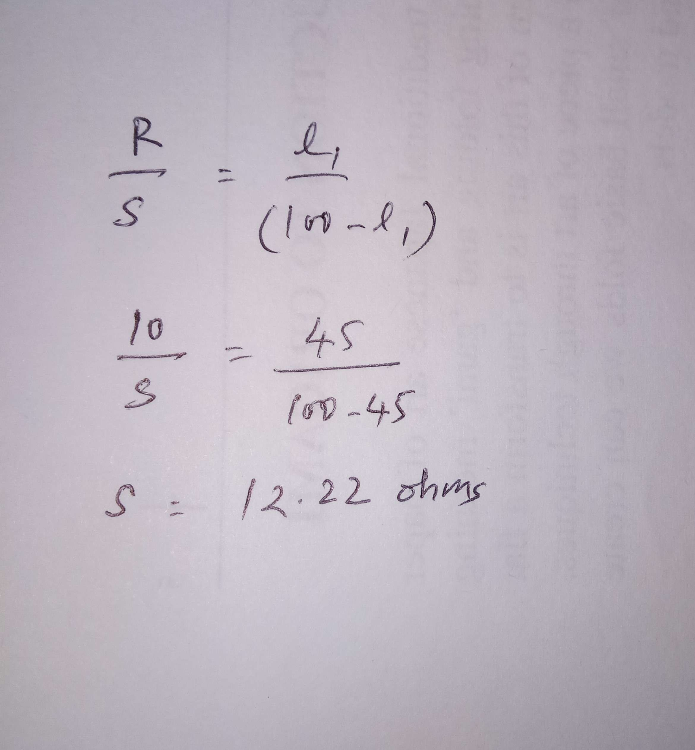 The resistance in left gap of meter bridge is 10 ohm and balance ...