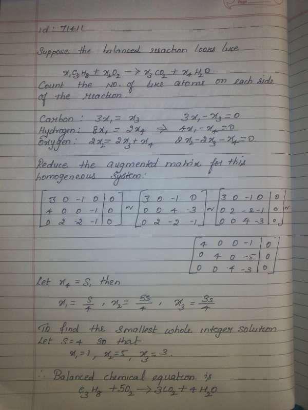 solving chemical equations with matrices tessshebaylo. Black Bedroom Furniture Sets. Home Design Ideas