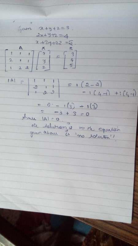 Apply The Matrix Method To Solve The Eqations Xyz32xyz4x2y