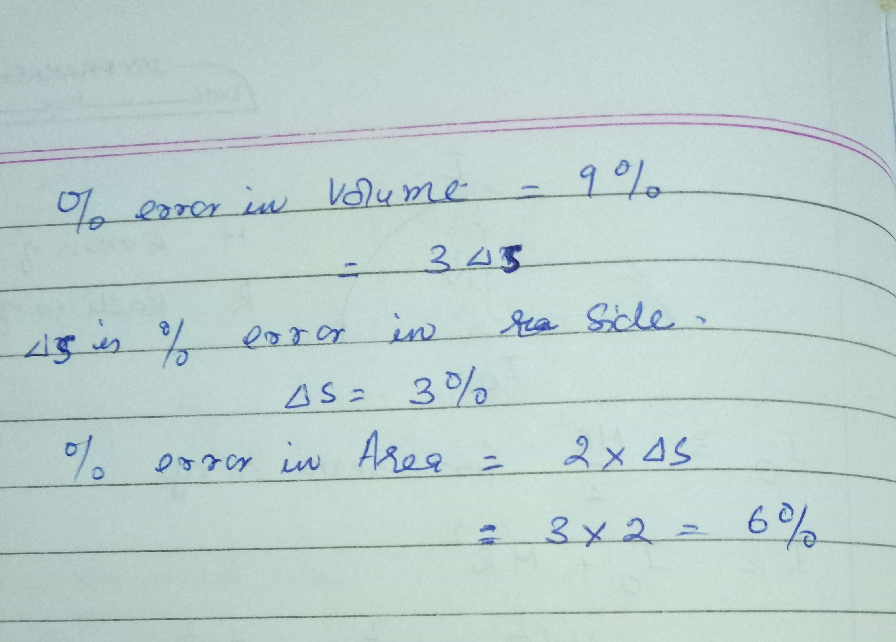 The Volume Measurement Of A Cube Is 9 Off The Percent Error Of The