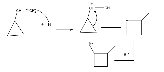 Vinyl Cyclopropane On Reaction With Hbr Yields Which Of