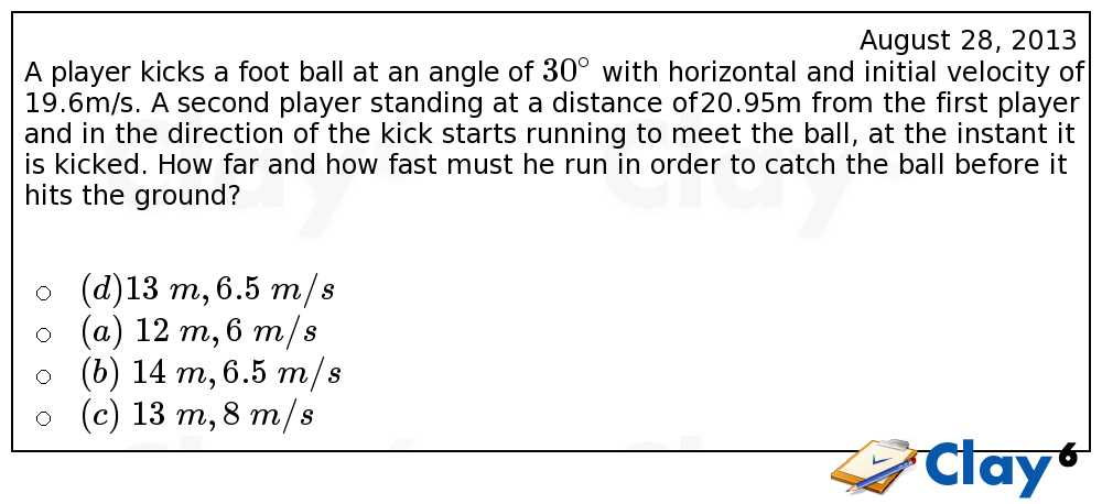 http://clay6.com/qa/10847/a-player-kicks-a-football-at-an-angle-of-30-with-horizontal-and-initial-vel
