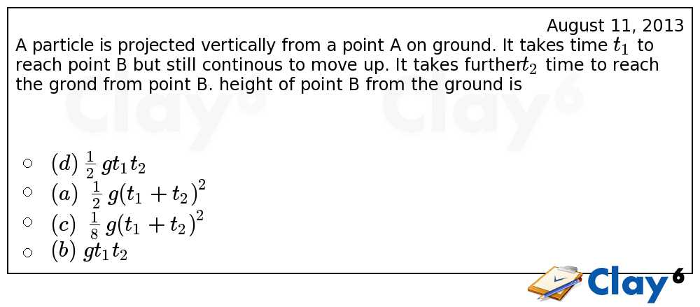 http://clay6.com/qa/10916/a-particle-is-projected-vertically-from-a-point-a-on-ground-it-takes-time-t