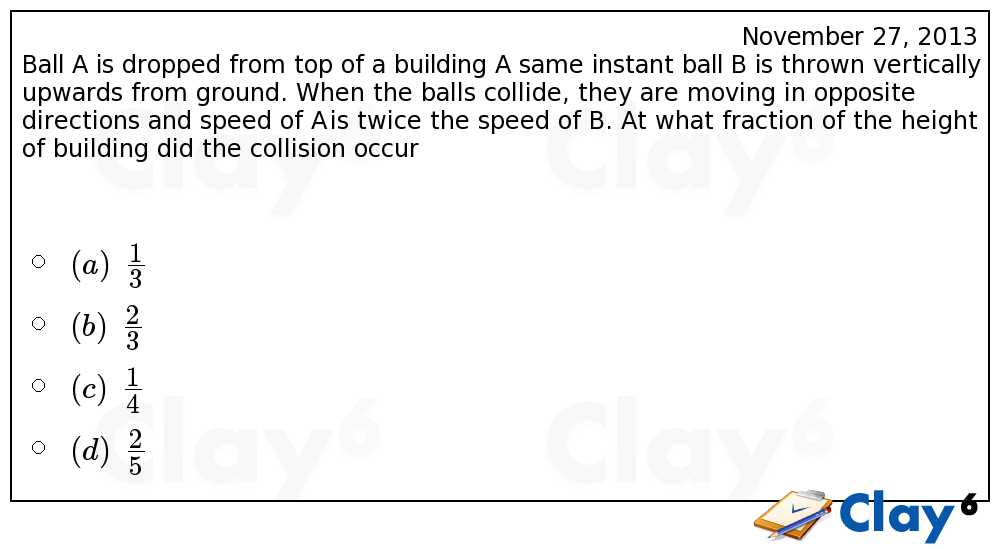 http://clay6.com/qa/11033/ball-a-is-dropped-from-top-of-a-building-at-same-instant-ball-b-is-thrown-v