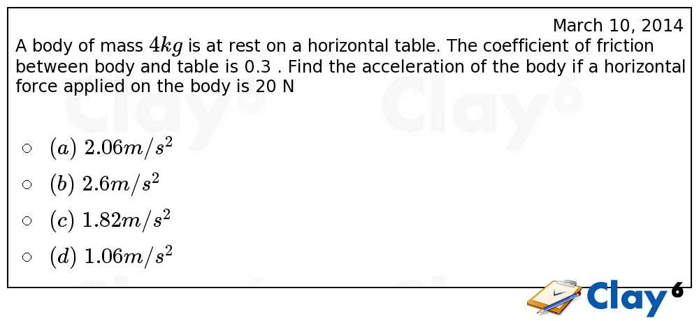 http://clay6.com/qa/11179/a-body-of-mass-4-kg-is-at-rest-on-a-horizontal-table-the-coefficient-of-fri