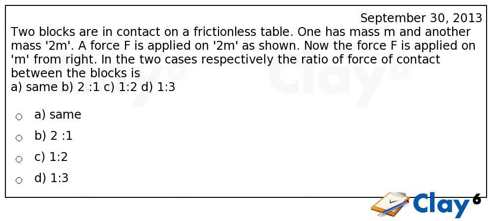 http://clay6.com/qa/11451/two-blocks-are-in-contact-on-a-frictionless-table-one-has-mass-m-and-anothe
