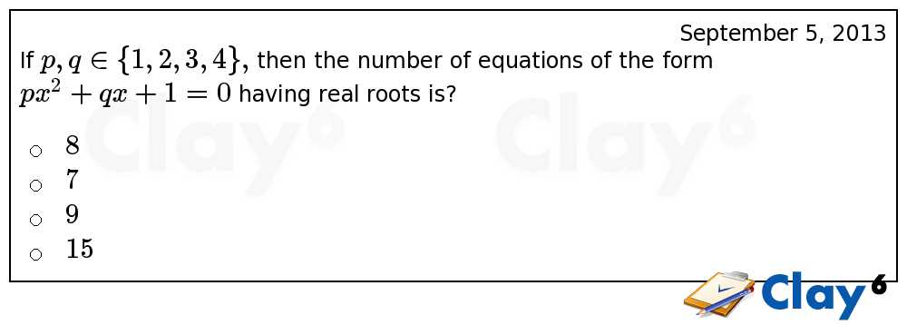 http://clay6.com/qa/12065/if-p-q-in-then-the-number-of-equations-of-the-form-px-2-qx-1-0-having-real-