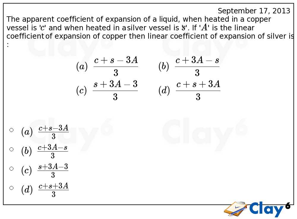 http://clay6.com/qa/13129/the-apparent-coefficient-of-expansion-of-a-liquid-when-heated-in-a-copper-v