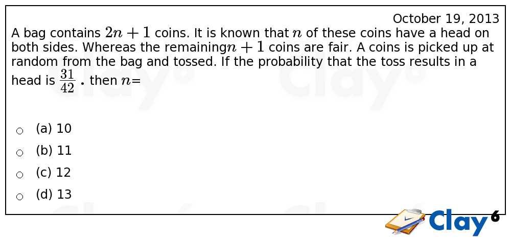 http://clay6.com/qa/13381/a-bag-contains-2n-1-coins-it-is-known-that-n-of-these-coins-have-a-head-on-