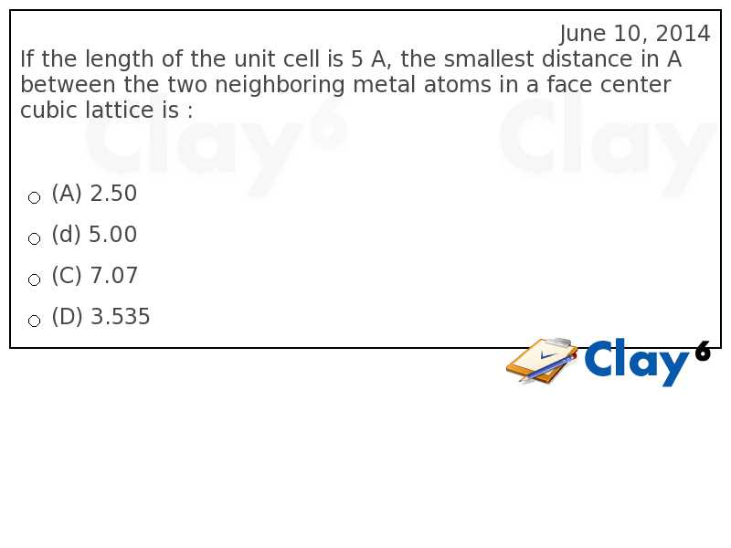 http://clay6.com/qa/13773/if-the-length-of-the-unit-cell-is-5-a-the-smallest-distance-in-a-between-th
