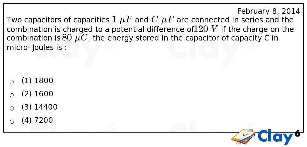 http://clay6.com/qa/13983/two-capacitors-of-capacities-1-mu-f-and-c-mu-f-are-connected-in-series-and-