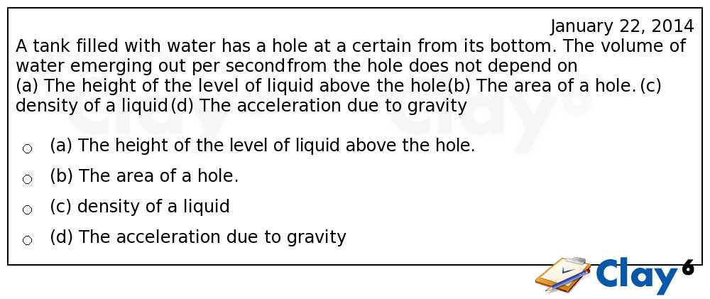 http://clay6.com/qa/14074/a-tank-filled-with-water-has-a-hole-at-a-certain-height-from-its-bottom-the