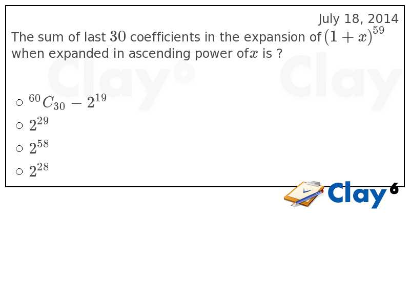http://clay6.com/qa/15077/the-sum-of-last-30-coefficients-in-the-expansion-of-1-x-when-expanded-in-as