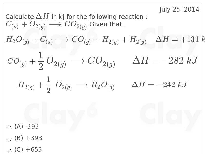 http://clay6.com/qa/15162/calculate-delta-h-in-kj-for-the-following-reaction-c-o-longrightarrow-co-gi