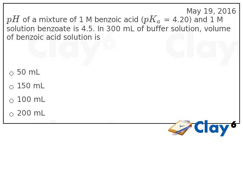 http://clay6.com/qa/19068/ph-of-a-mixture-of-1-m-benzoic-acid-pk-a-4-20-and-1-m-solution-benzoate-is-