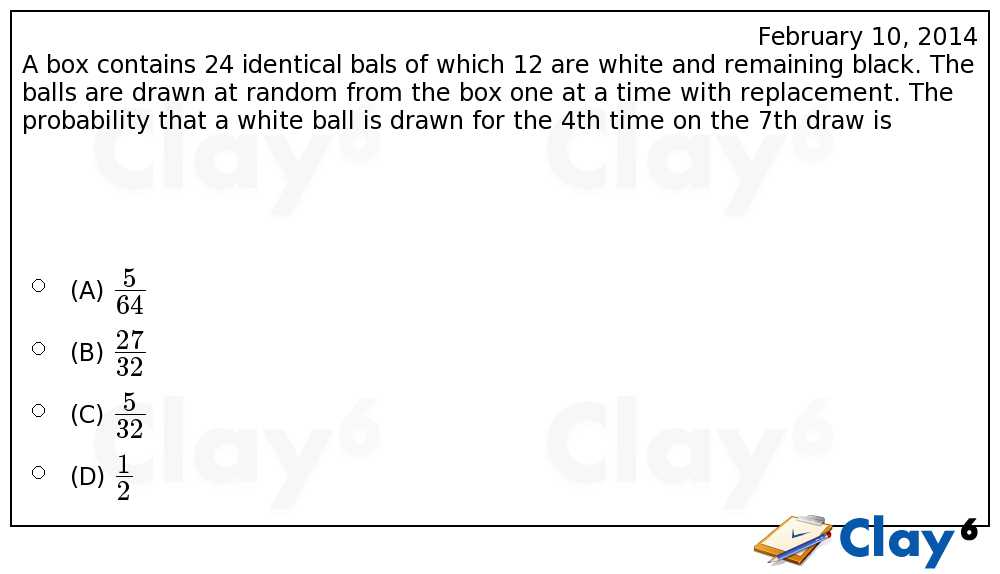 http://clay6.com/qa/23430/a-box-contains-24-identical-bals-of-which-12-are-white-and-remaining-black-