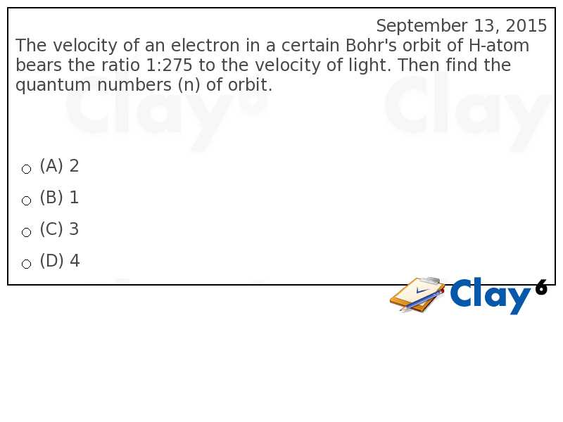 http://clay6.com/qa/25132/the-velocity-of-an-electron-in-a-certain-bohr-s-orbit-of-h-atom-bears-the-r