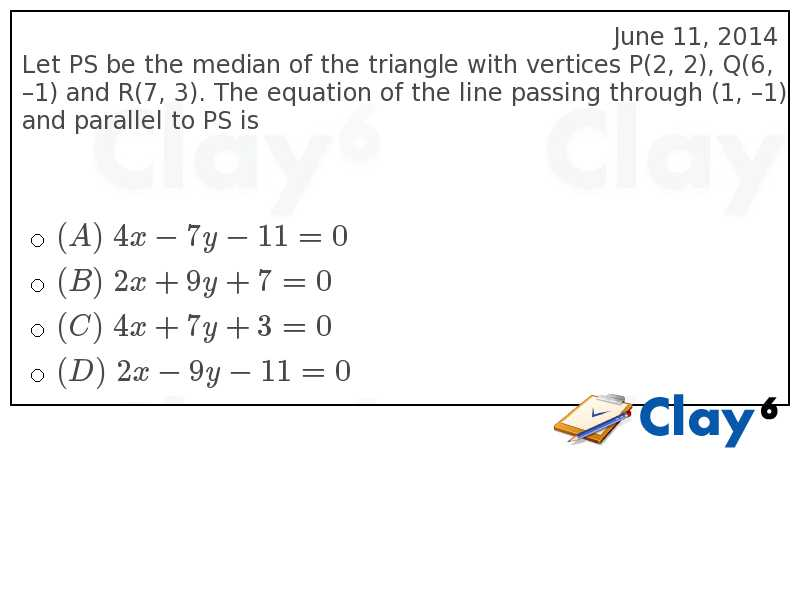 http://clay6.com/qa/37006/let-ps-be-the-median-of-the-triangle-with-vertices-p-2-2-q-6-1-and-r-7-3-th
