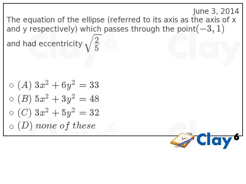 http://clay6.com/qa/37563/the-equation-of-the-ellipse-referred-to-its-axis-as-the-axis-of-x-and-y-res