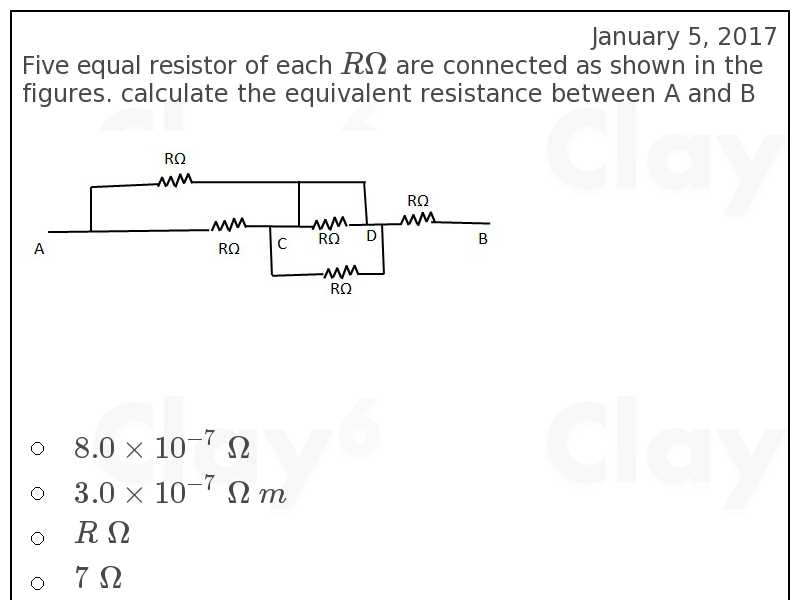 http://clay6.com/qa/59676/five-equal-resistor-of-each-r-omega-are-connected-as-shown-in-the-figures-c