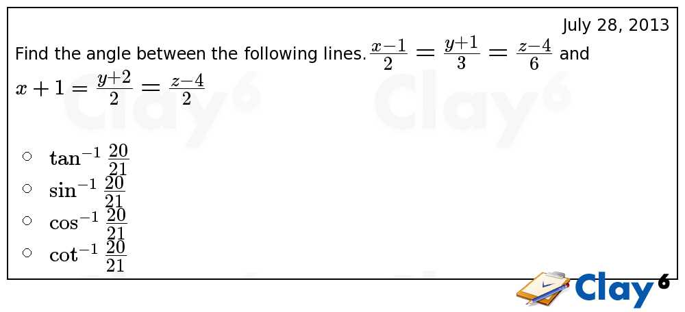 http://clay6.com/qa/7906/find-the-angle-between-the-following-lines-large-frac-frac-frac-and-x-1-lar
