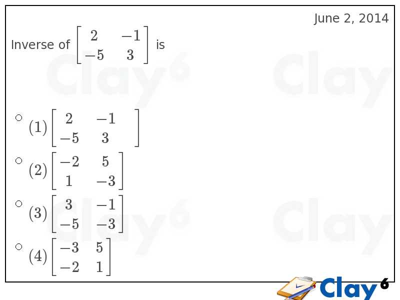 http://clay6.com/qa/9219/inverse-of-begin2-1-5-3-end-is